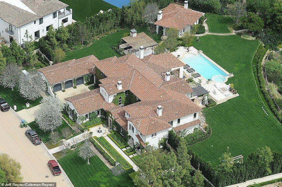 Aerial photos reveal Kim, Kourtney, Khloe, Kylie and Kris' LA mansions