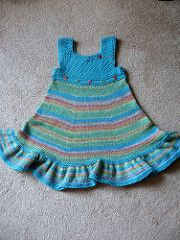This dress was designed to flatter little toddler bodies. It is knitted completely in the round as are most of my projects.