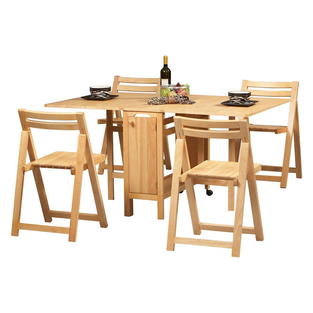 Lovely Linon Space Saver 5 Piece Kitchen Table Set