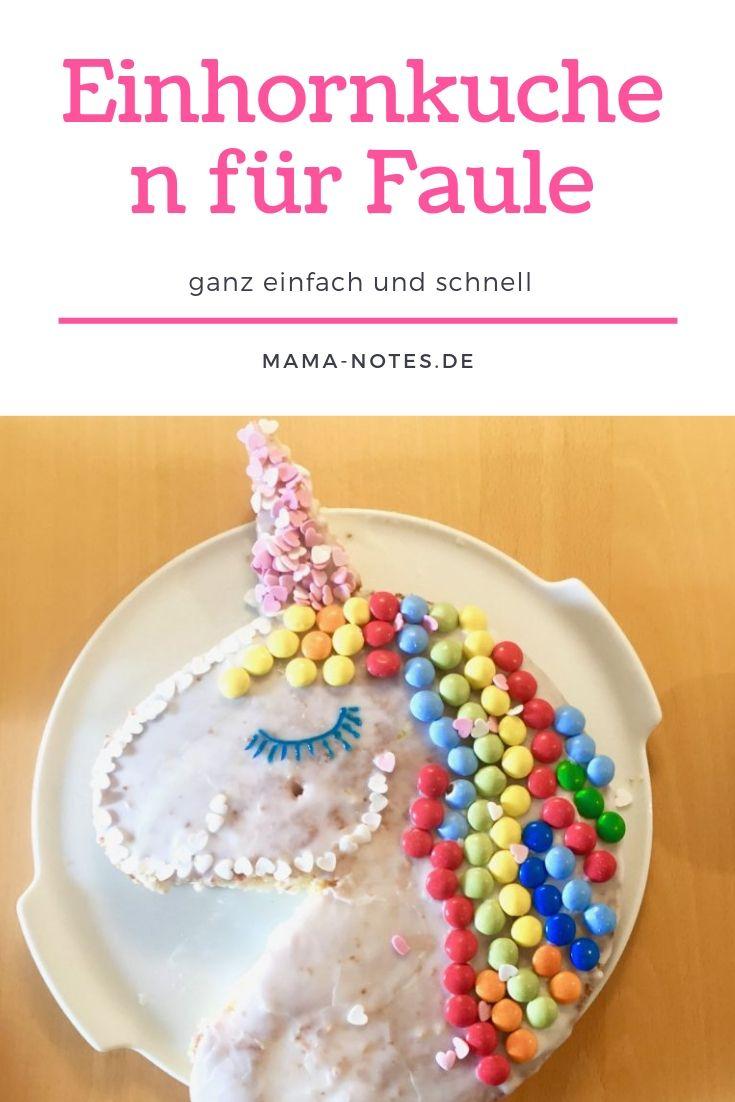 Einhornkuchen für Faule ::: ganz einfach und schnell - Familienblog Mama notes #pumpkinmuffins