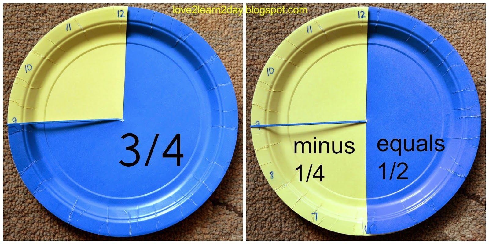Fraction Addition Made Easy Clocks With Images