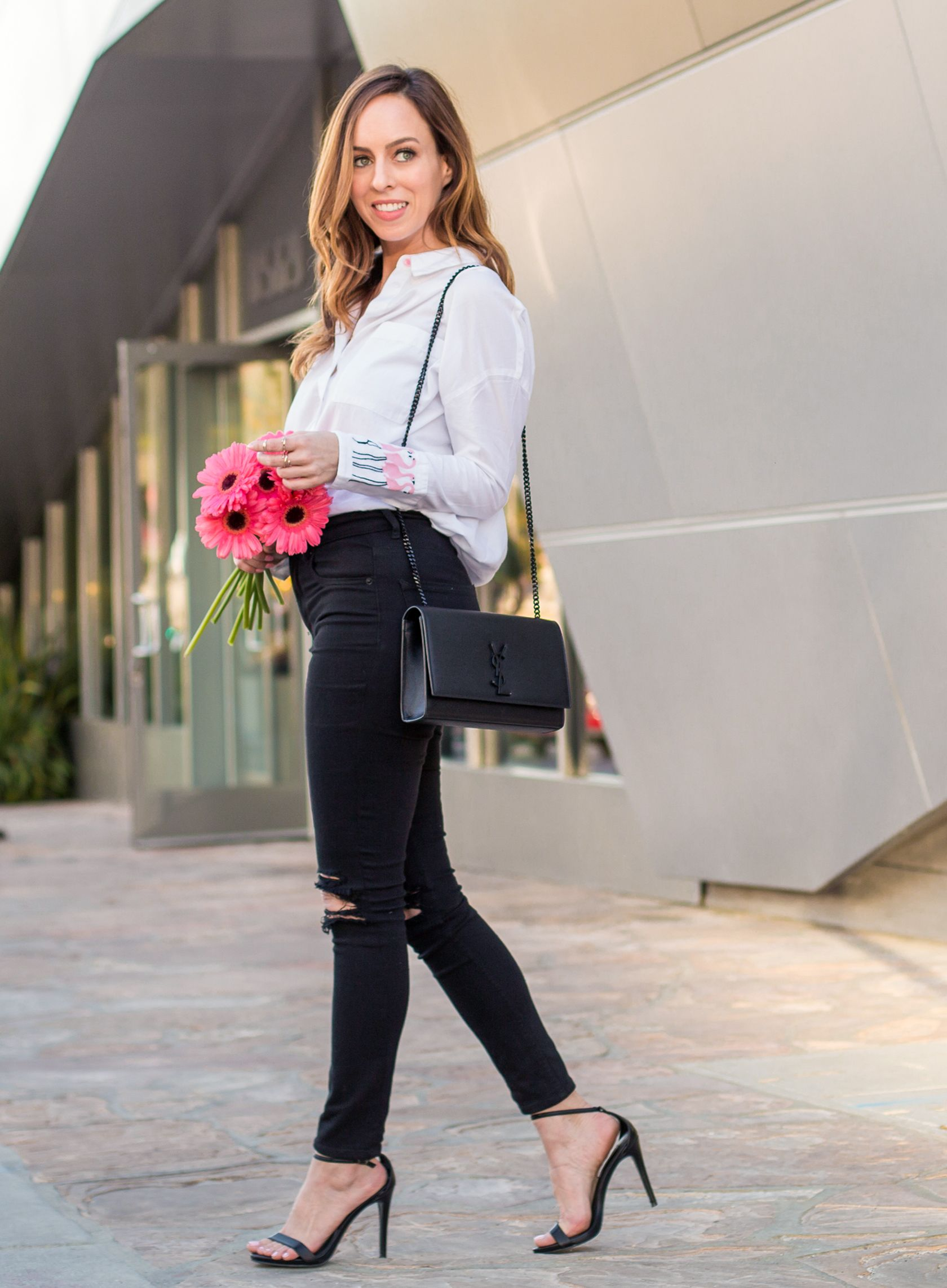 4c00f933ac Sydne Style - Los Angeles fashion blogger Sydne Summer Miami-styles  Flamingo Shirts for Casual Friday. Shop the looks online!