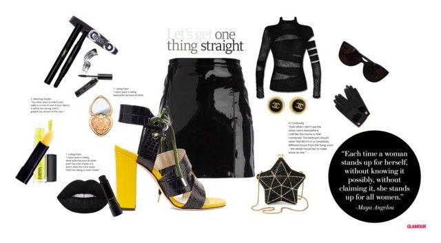 """""""Black & Yellow"""" by trickpink ❤ liked on Polyvore featuring Manokhi, MSGM, Aspinal of London, Tiffany & Co., Rimmel, Mulberry, Chanel, Yves Saint Laurent, Bobbi Brown Cosmetics and Too Faced Cosmetics"""