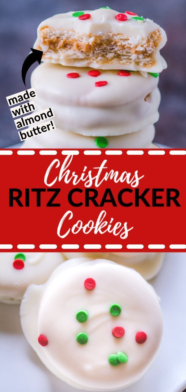 Cracker Christmas Cookies These cookies are super easy to make and a chocolate almondpeanut butter lovers dream Perfect for Christmas or any holiday gathering  These cook...