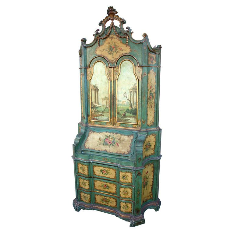 This secretary desk is very Chinoiserie. (French word for Chinese ...