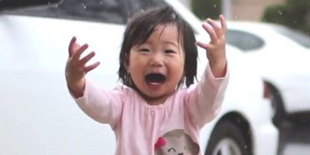 Toddler's Reaction To Rain Makes Us Appreciate The Simple Joys Of Life