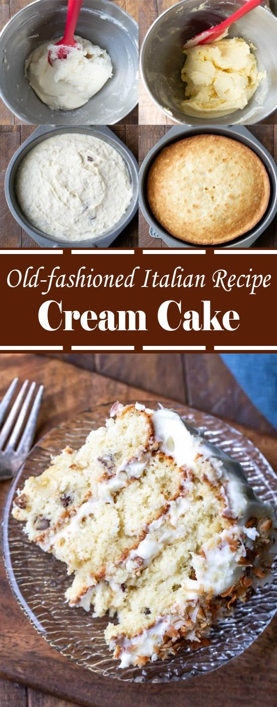 Photo of Old-fashioned Italian Recipe Cream Cake