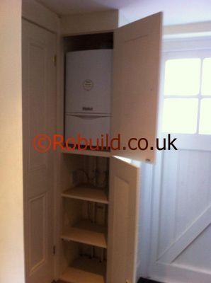 Boxed In Pipes Boiler Boiler Airing Cupboard Diy Cupboards