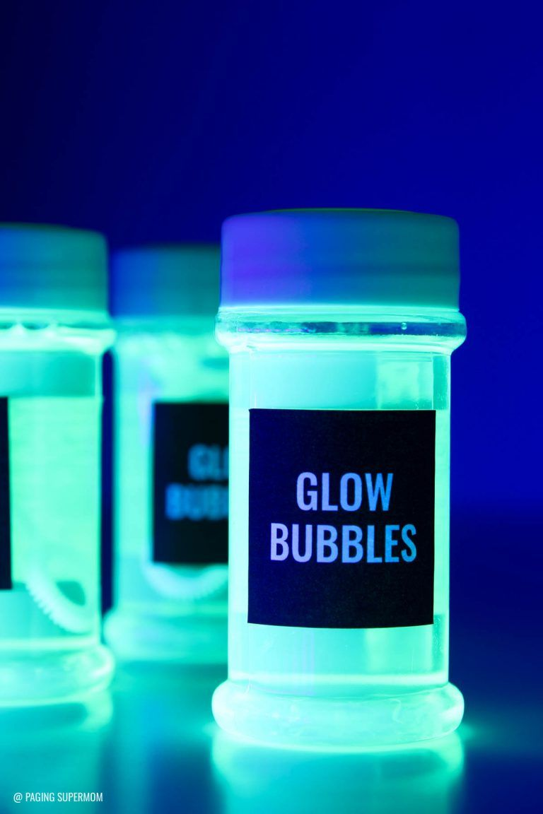 DIY Glow Bubbles for Blacklight Party - Cheap & Easy Recipe