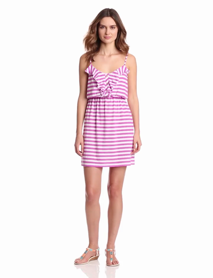Lilly Pulitzer Womens Callista Dress, Pansy Purple Boat Party Stripe, X-Small coupon  gamesinfomation.com