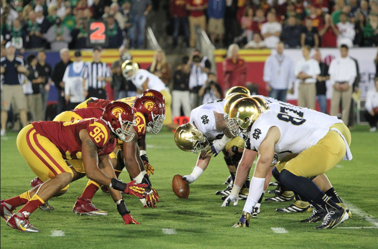College Football Game of the Week USC vs Notre Dame