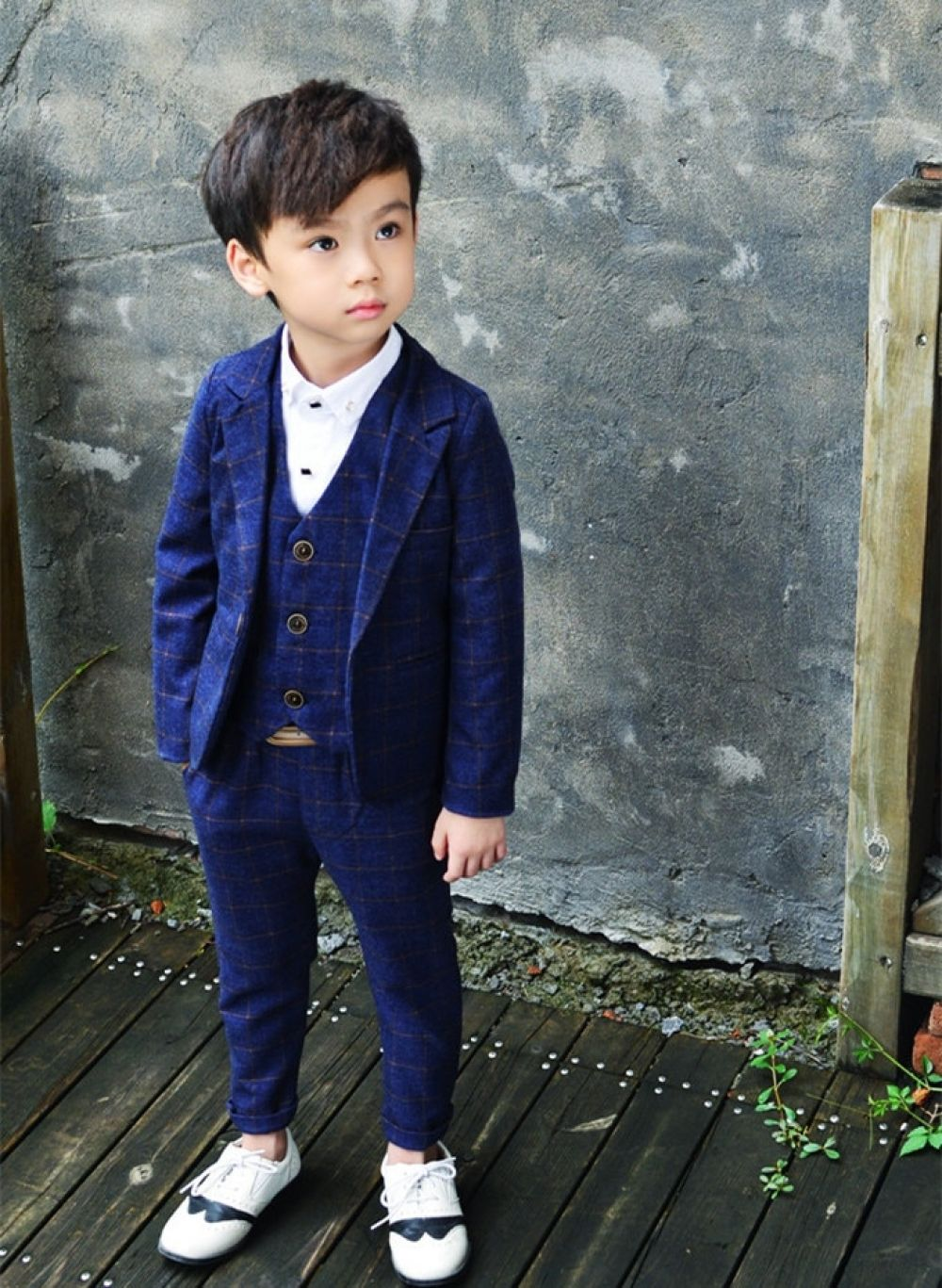 8783279cae527 Tuxedos Boys 3pcs Suit | Boys | Blazer suit, Plaid blazer, Suits