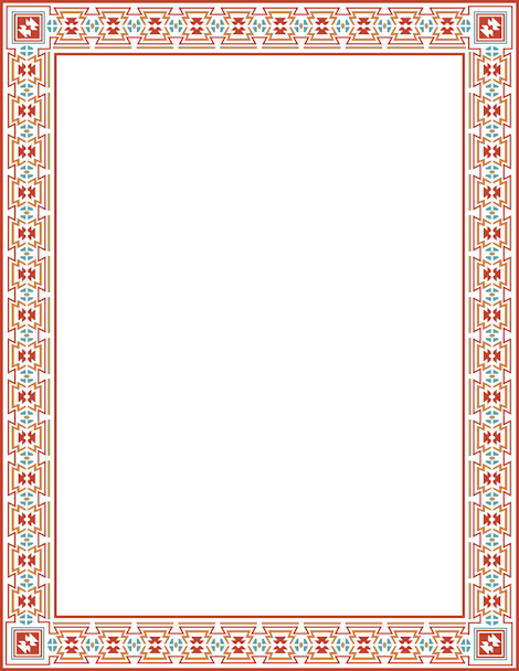 Printable Aztec border. Free GIF, JPG, PDF, and PNG downloads at http://pageborders.org/download/aztec-border/. EPS and AI versions are also available.