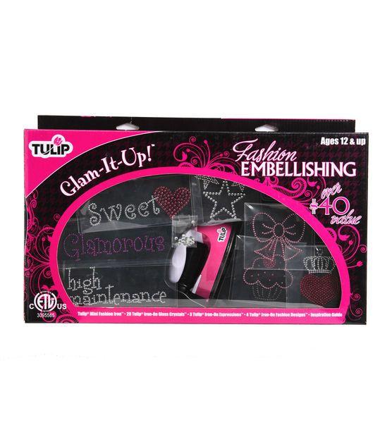 Tulip® Glam-It-Up! Iron-On Fashion Embellishing Kit