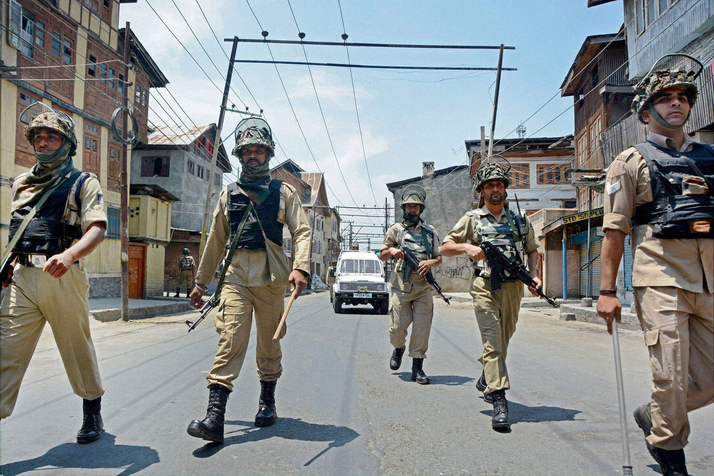 Three Civilian Injured In Kashmir Blast With Images India