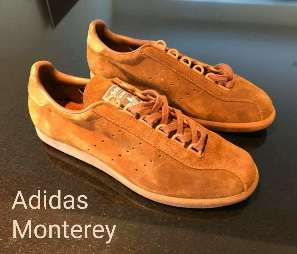 49dde070885a9 Crackin' pair of vintage adidas Monterey, with ghillie lacing system ...