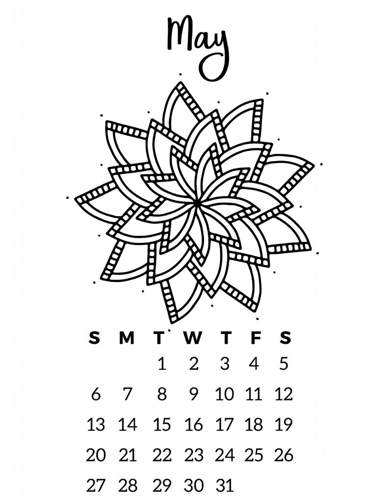 Free Printable 2018 Calendar – Mandala Coloring Pages | Free ...