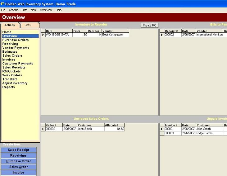 The Golden Web Inventory system is a complete business software - are invoice and purchase order the same