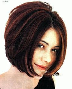a line shaggy bob for round face - Google Search | Hair color ...
