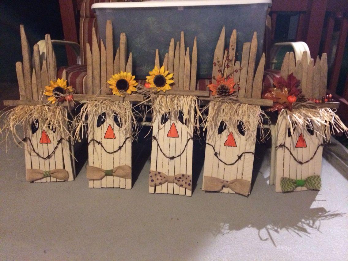 Tobacco stick scarecrows