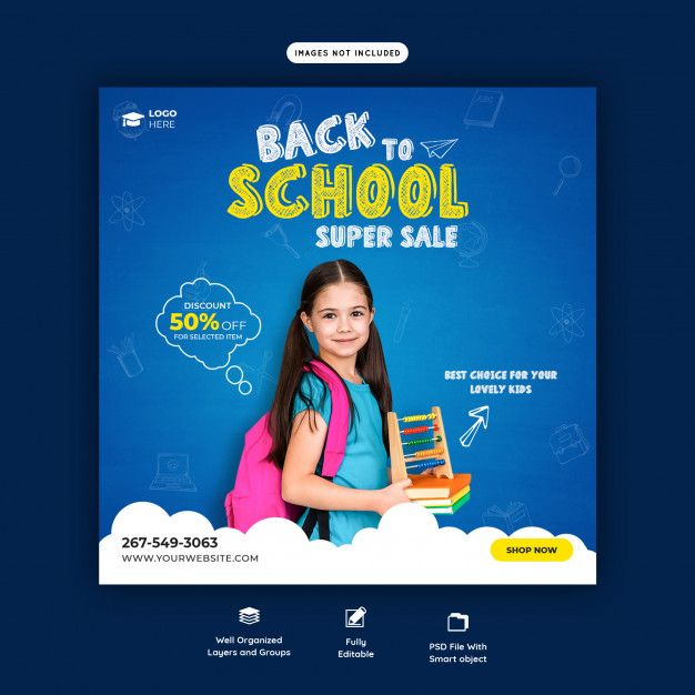 15 Back To School Social Media Posts And Banners Ideas Back To School Social Media School