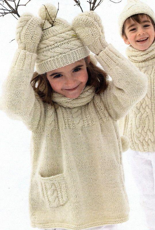 tricoter tunique 8 ans