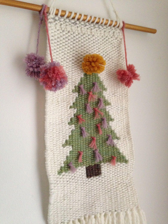 Christmas Themed Hand Woven Wall Hanging Seasonal