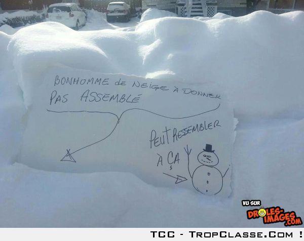 Bonhomme de neige Ikea