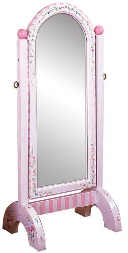 Teamson Bouquet Girls Framed Decorative Standing Mirror Standing Mirror Mirror Fantasy Fields