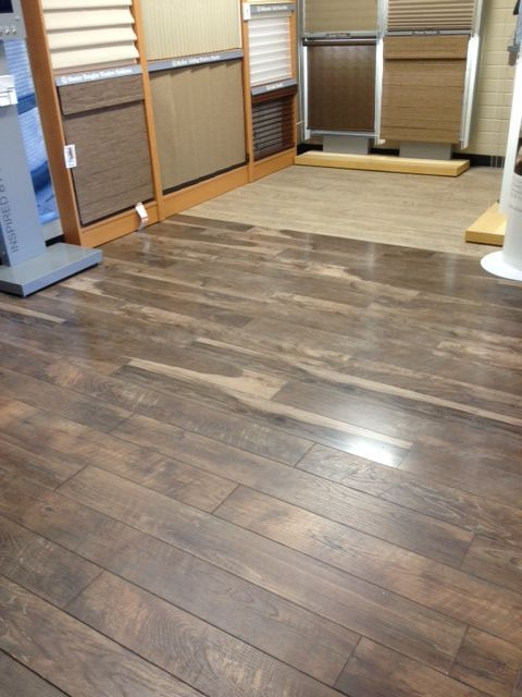Three Of Our Best Ing Restorations Laminate Colors On One Showroom Floor Historic Oak In Charcoal Cau Dusk And Black Forest Ok Weathered