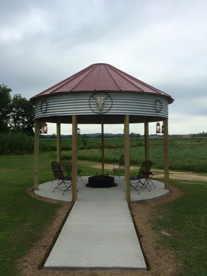 Nice Gazebo Fire Pit Area With Images Gazebo With Fire Pit