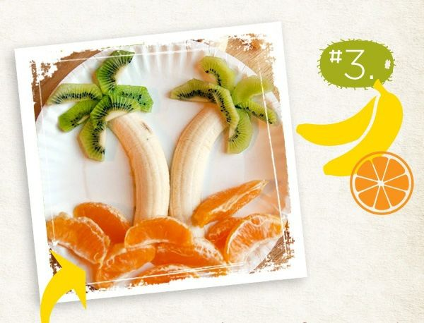 Kinder Essen Geburtstag Banan Kiwi Orangen wwwwand-design-und - wanddesign