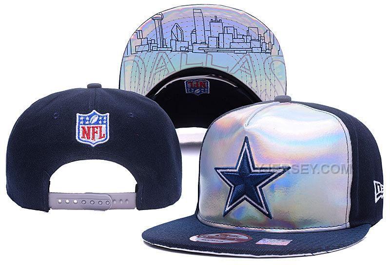 COWBOYS TEAM LOGO BLUE REFLECTIVE ADJUSTABLE HAT YD e1e4b09d1