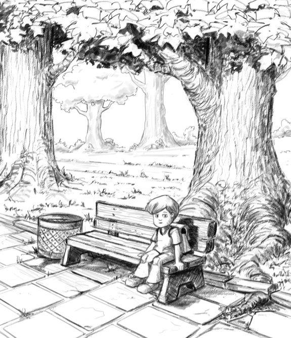 Park Bench Sketch Google Search Art