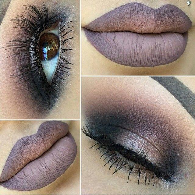 Maquiagem Trucco Pinterest Smoke Make Up And Purple Gray