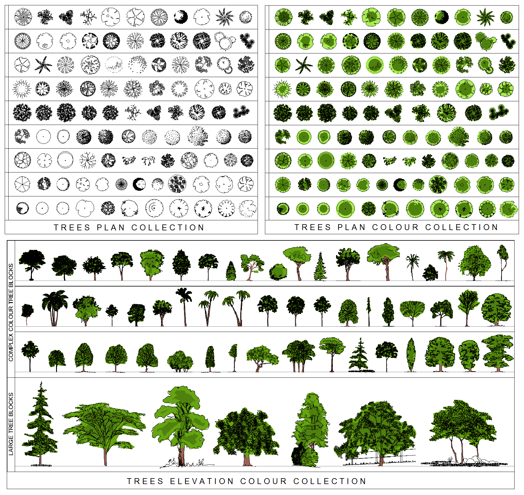 Top view plants 02 2d plant entourage for architecture - Architectural Trees Png Tr02 Tree Collection Bundle Png