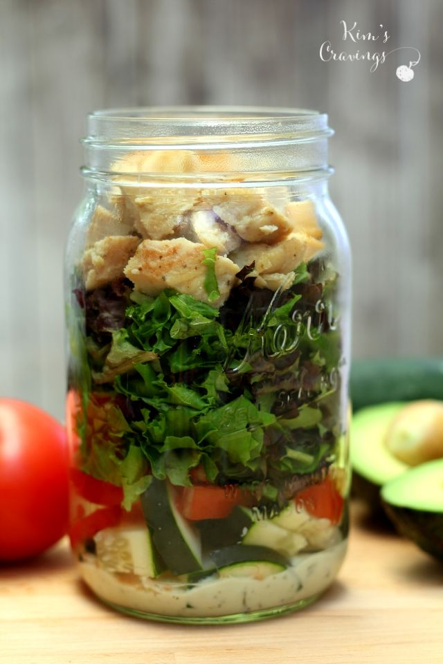 My Go To Salad In A Jar Lunch Recipe Salad In A Jar Meals In A Jar Mason Jar Meals