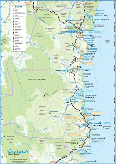 map of Eurobodalla South Coast NSW My Pinterest Likes Pinterest