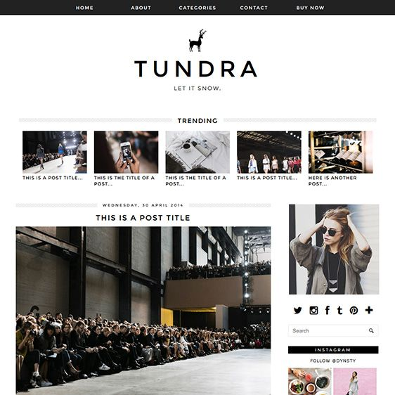 Blogger Template Tundra Template, Blogger blogspot and Social icons