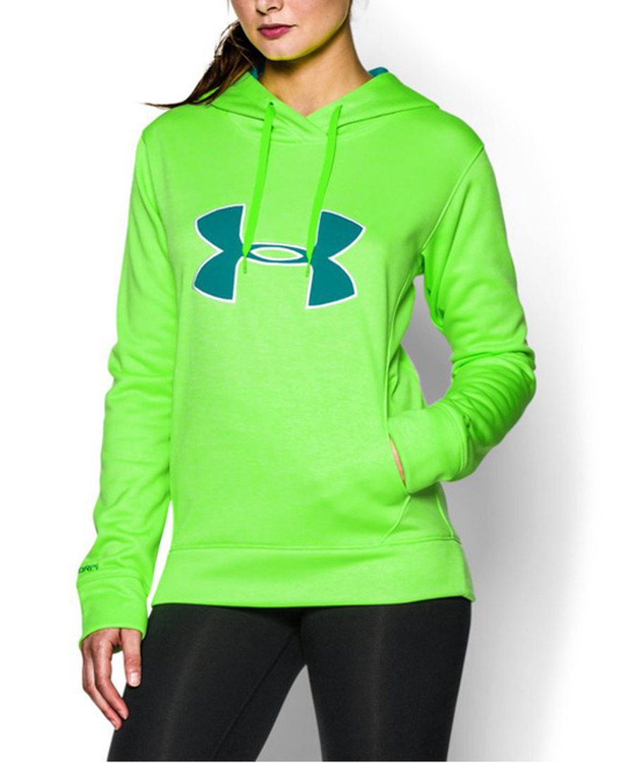 890351378d7d Look at this Under Armour® Neon Green Storm Big Logo Twist Hoodie on   zulily today!