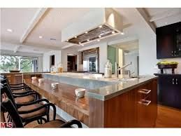 Kitchen Island With Drop Down Butcher Block Sushi Bar Home Kitchens Concrete Kitchen Island Home
