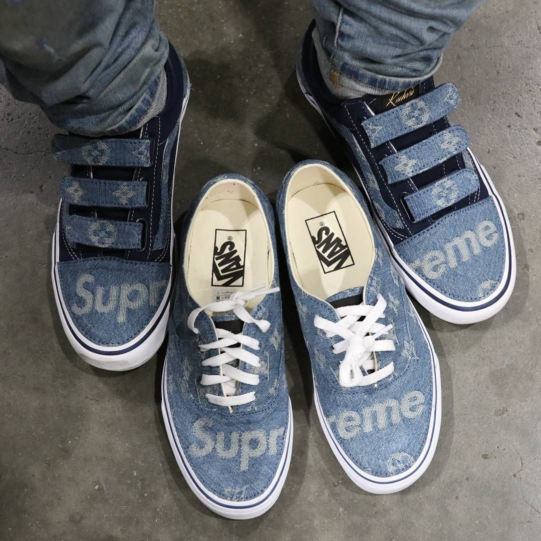 497f037aef Louis Vuitton Supreme Denim VANS custom
