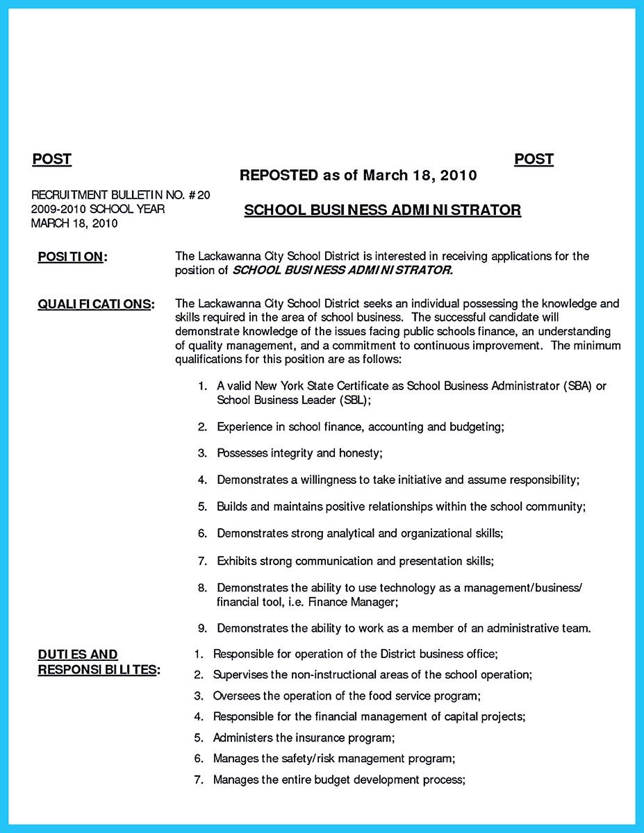 What is your purpose in making business school resume? It