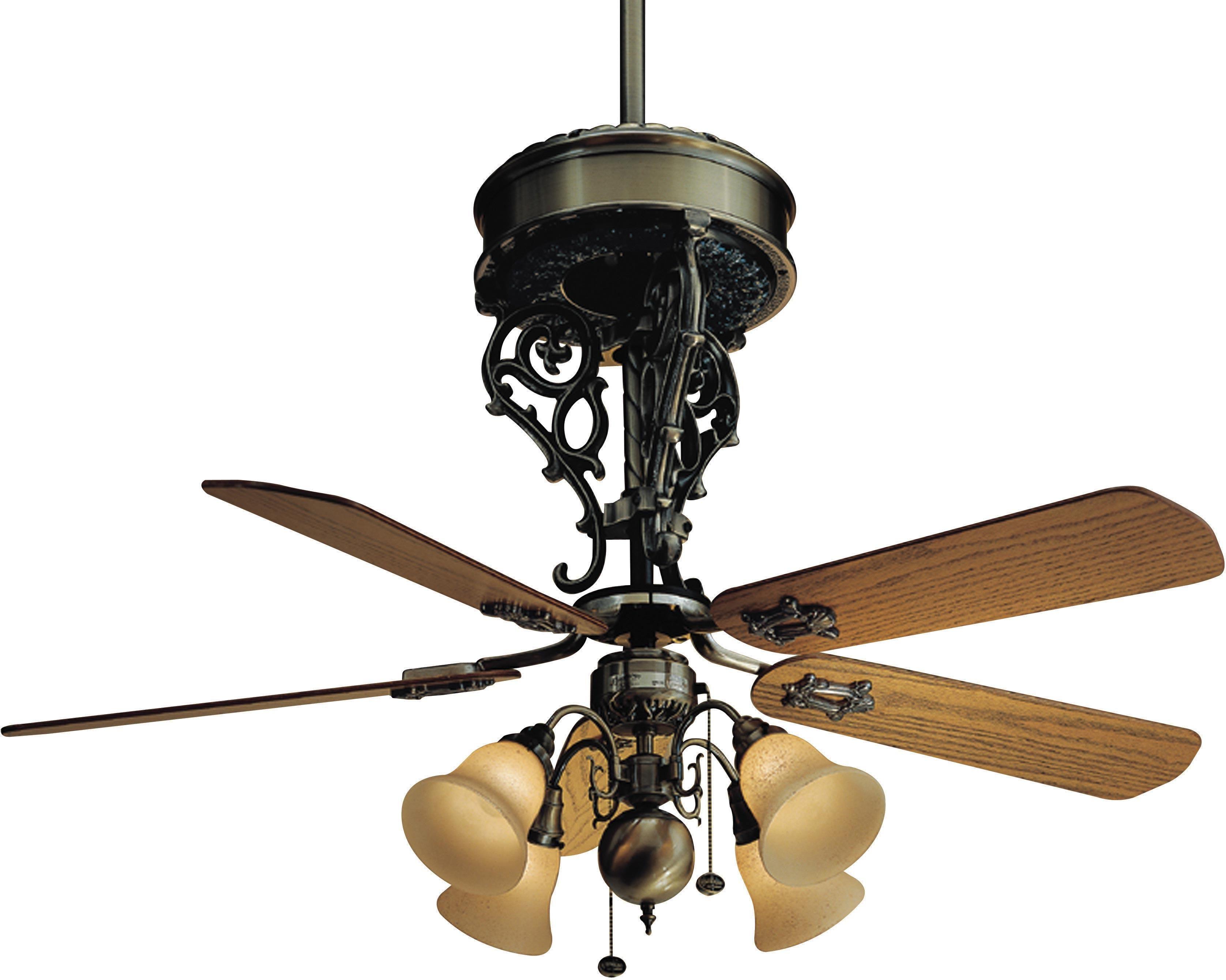 New Orleans Centennial Antique Brass Ceiling Fan Brass Ceiling