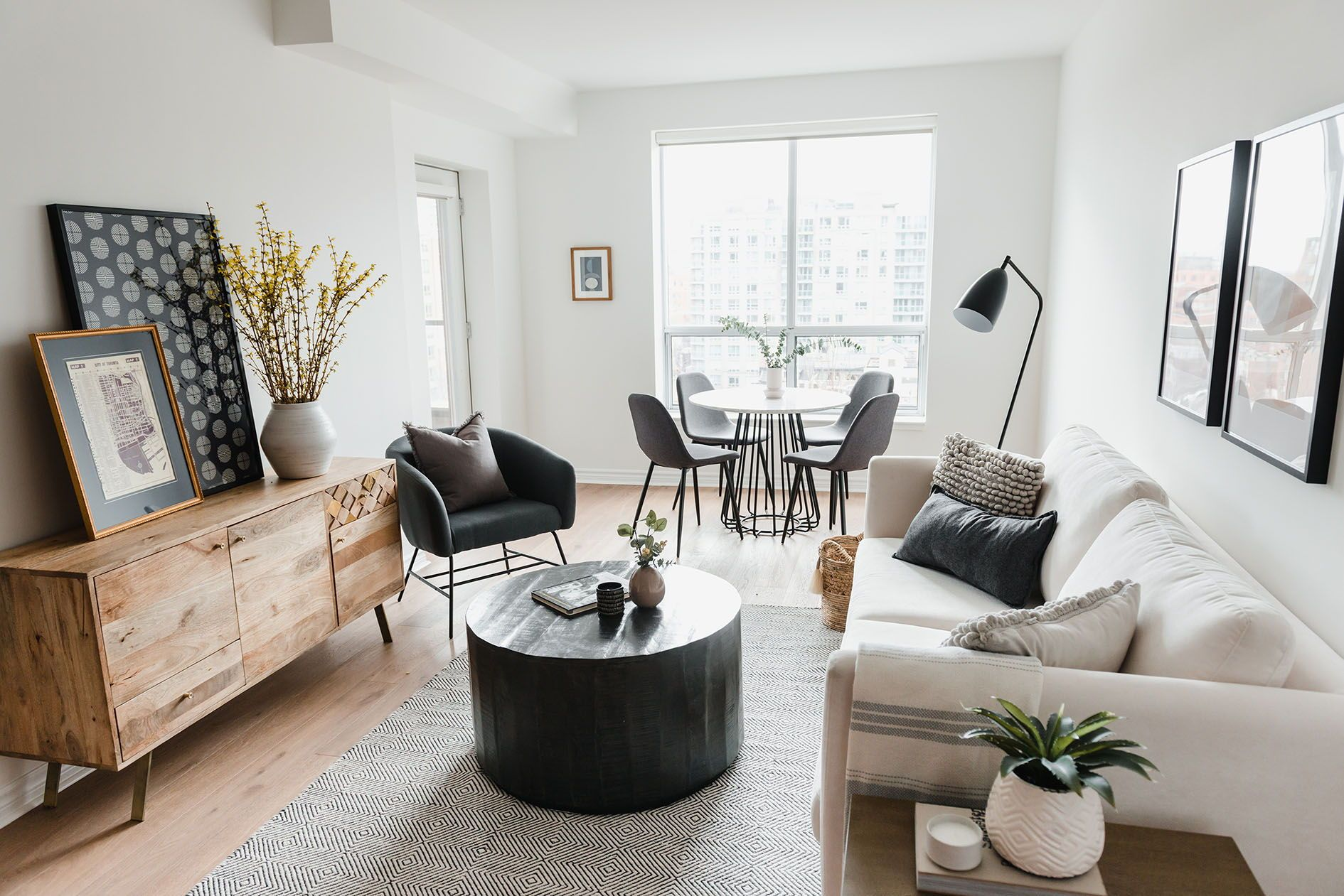 a small space with big impact an open concept living area Living Dining Combo Small Space id=96116