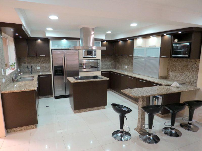 Cocinas modernas cocina kitchen pinterest kitchens - Cocinas con islas modernas ...