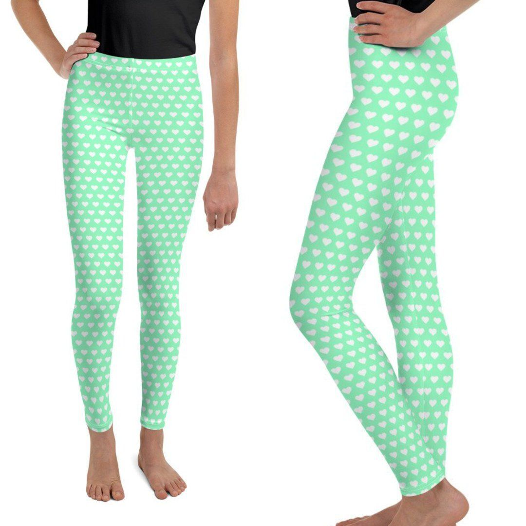 9394fe85b Excited to share the latest addition to my  etsy shop  Mint Green Youth  Leggings