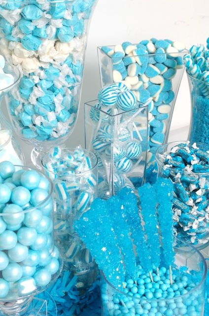 Blue Candy For Baby Shower : candy, shower, Shower, Party, Ideas, Photo, Candy,, Shower,