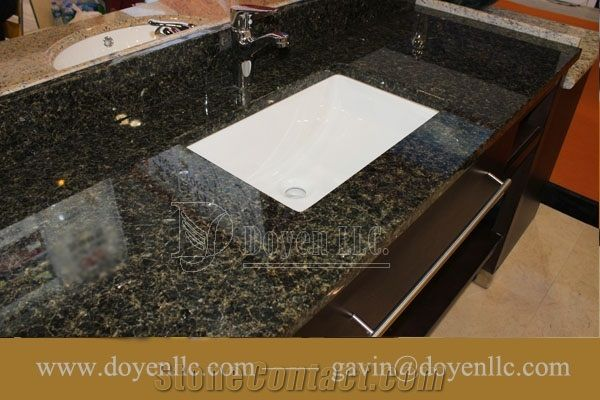Brazil Verde Uba Tuba Granite Bathroom Vanity Tops Wt