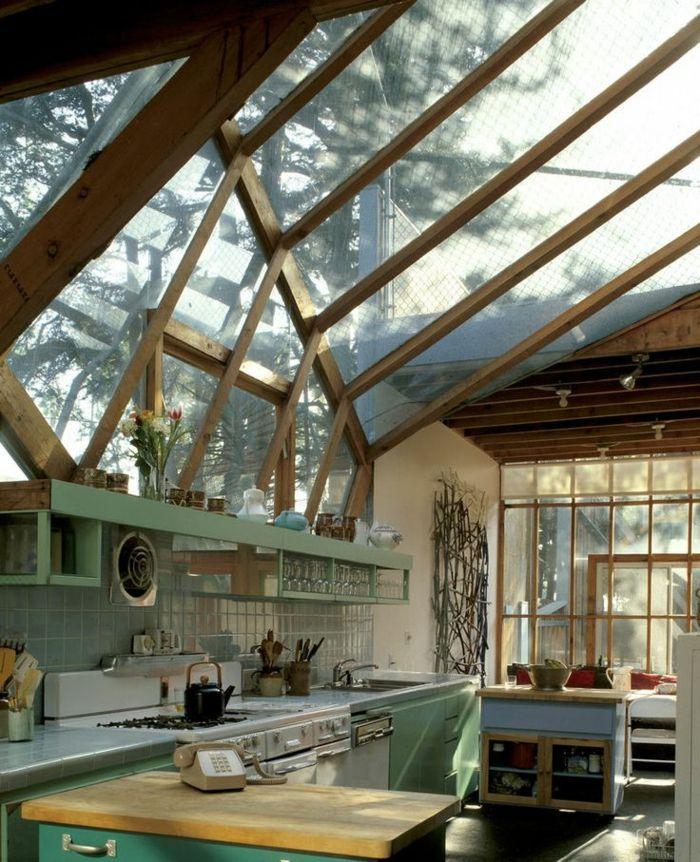 la fen tre de toit en 65 jolies images fen tre de toit cuisines rustiques et belle vue. Black Bedroom Furniture Sets. Home Design Ideas
